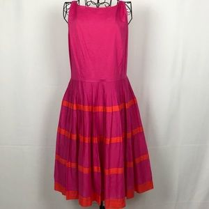 Talbots pleated skirt sleeveless dress 16